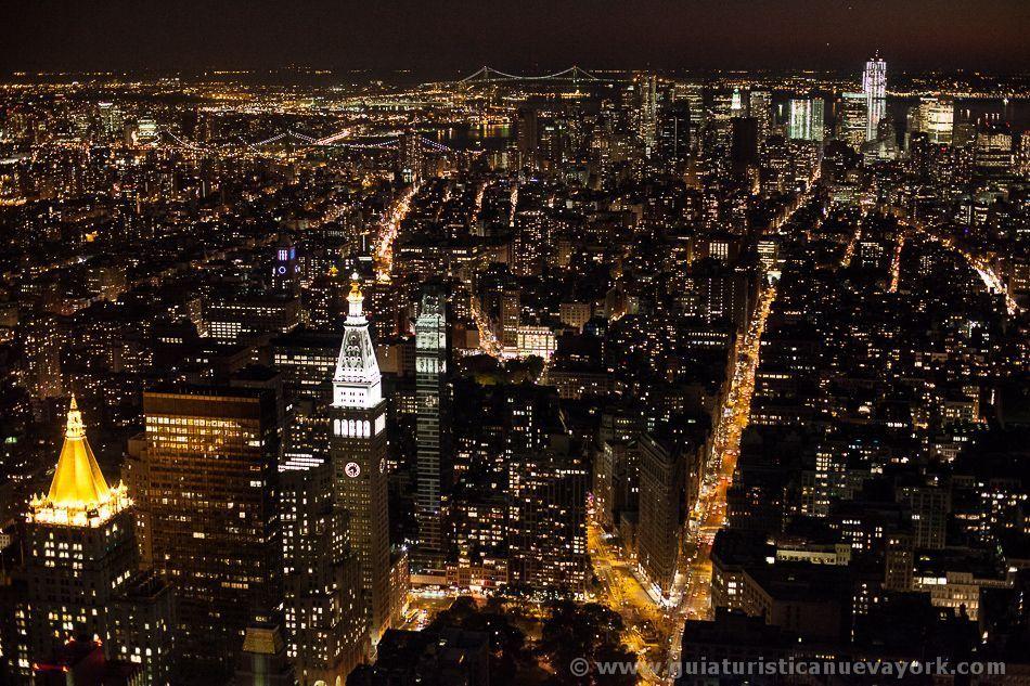 Nueva York de noche desde el mirador del Empire State Building