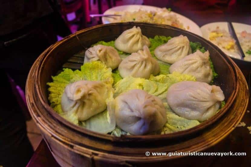 Los famosos dumplings de Shanghai Cafe