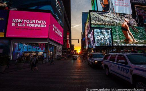 Paseo nocturno por Manhattan