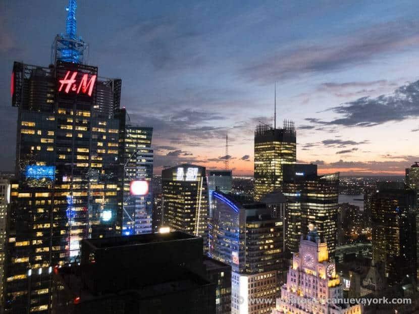 Vistas desde Bar 54, en el hotel Hyatt Times Square