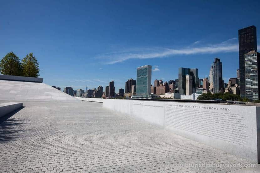 Entrada a Four Freedoms Park