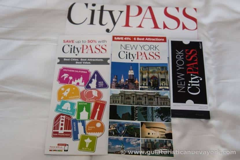 Contenido del sobre de New York CityPass
