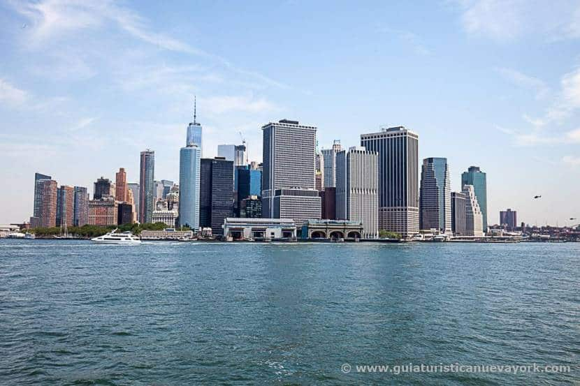 Nueva York visto desde el ferry a Staten Island
