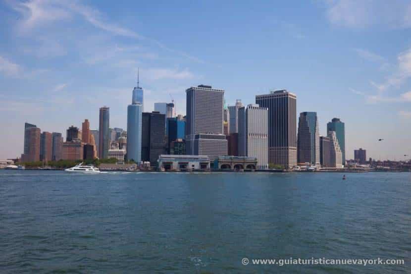 Nueva York desde el ferry a Governor's Island