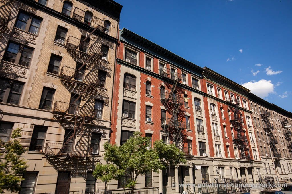Típicas casas de Harlem