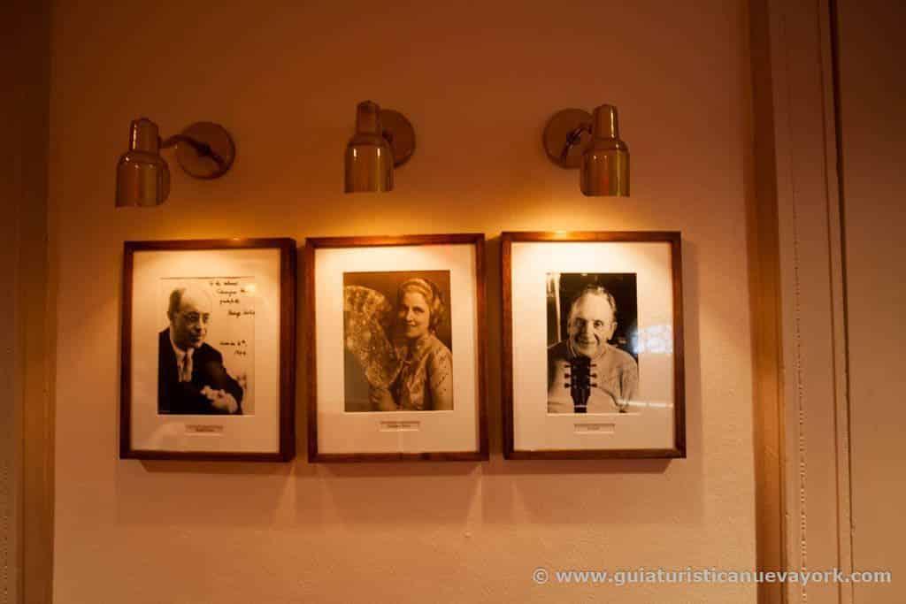 Autógrafos de los artistas que actuaron en el Carnegie Hall