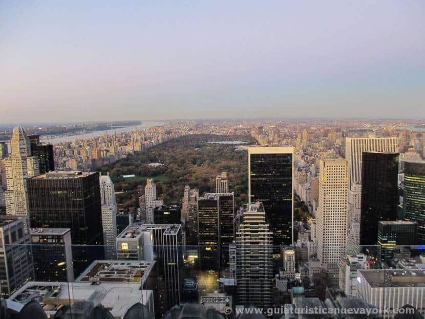 Central park desde Top of the Rock, incluido en la Attractions Week