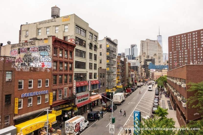 Chinatown desde el puente de Manhattan