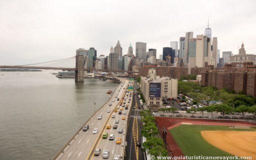 Cruzando el puente de Manhattan