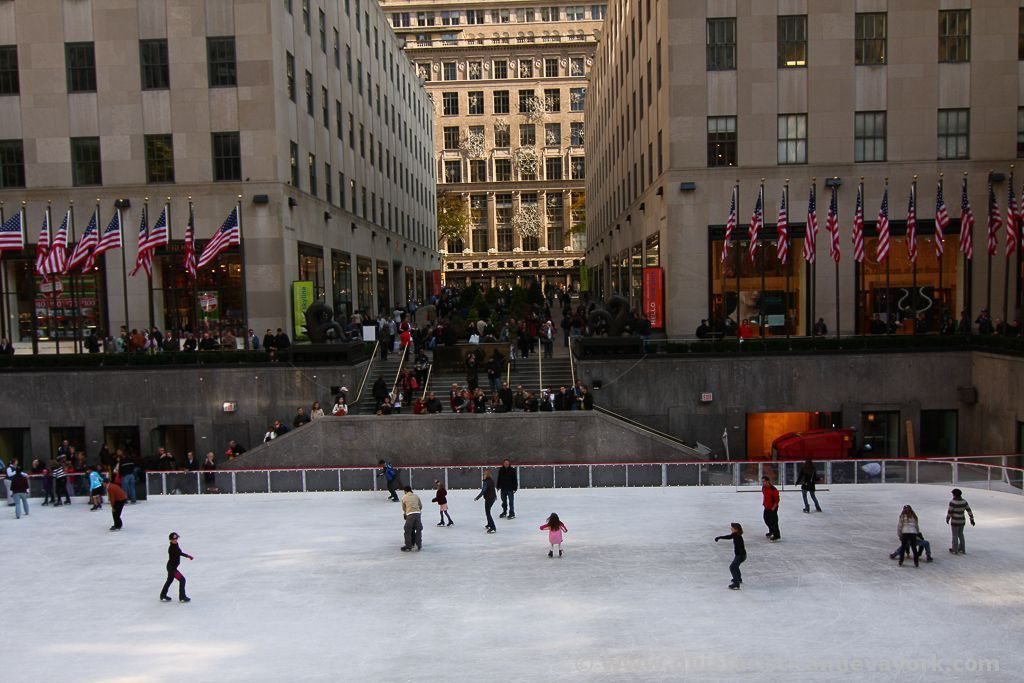 Patinando en el Rockefeller Center