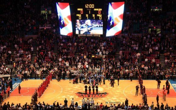 Partido de la NBA en el Madison Square Garden