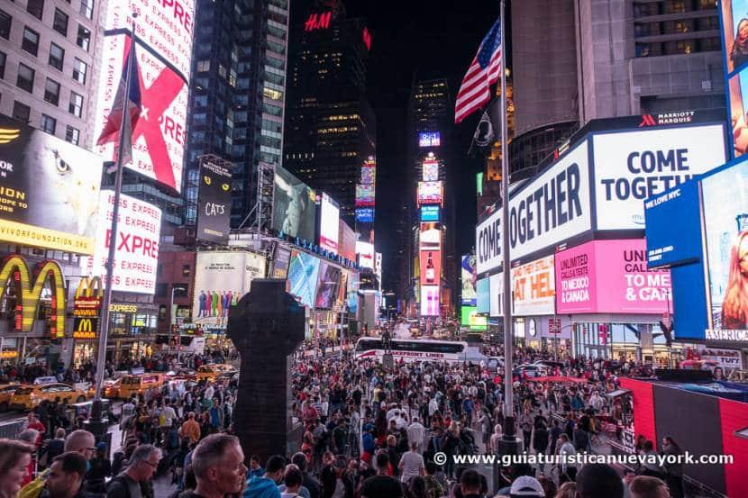Que ver en Nueva York - Times Square de noche