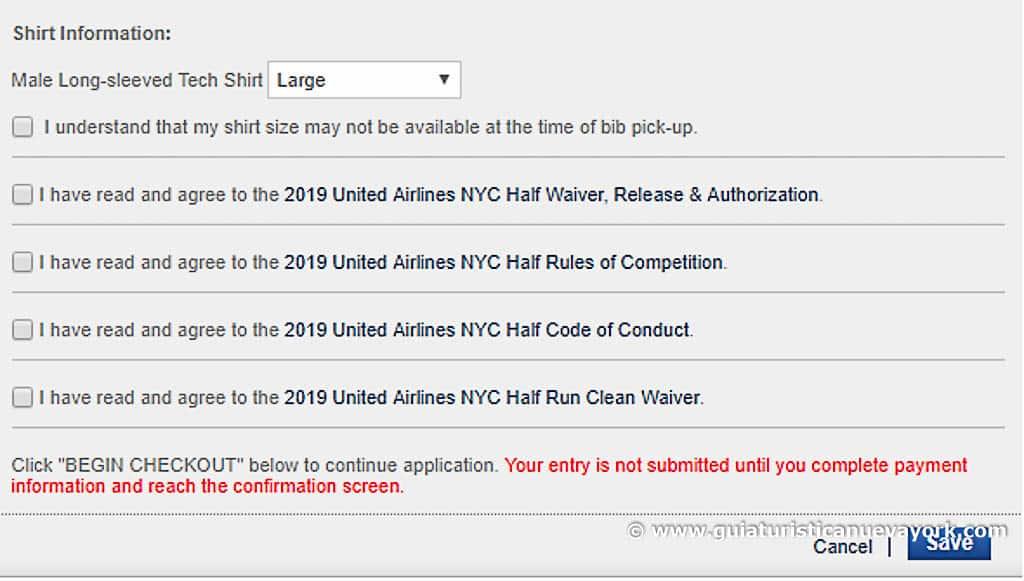 Pasos para inscribirte en la web oficial de la maratón de Nueva York