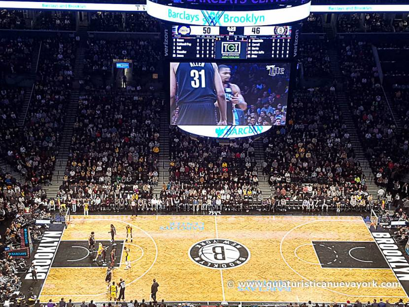 El Barclays Center durante un partido de la NBA