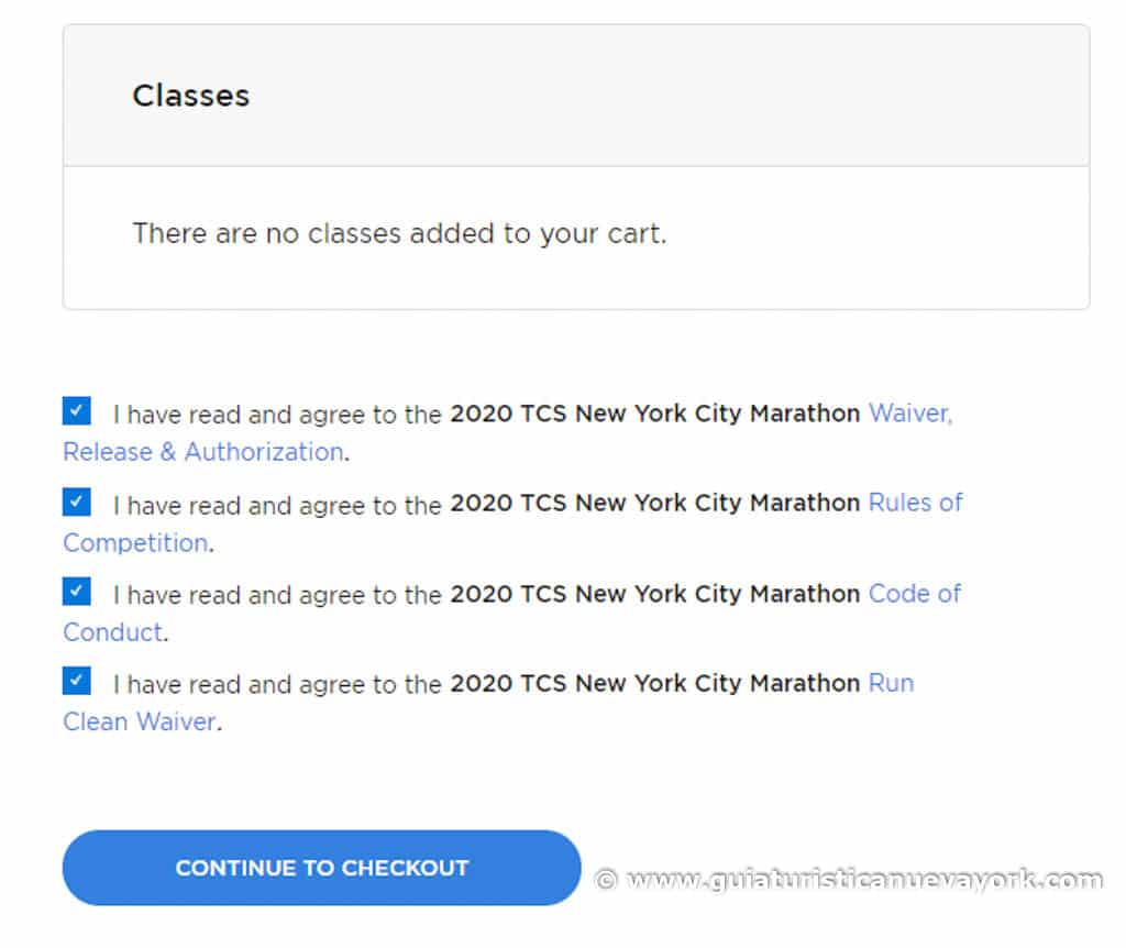 Inscribirse en la web de la maratón