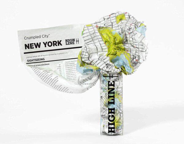 Mapa Crumpled New York