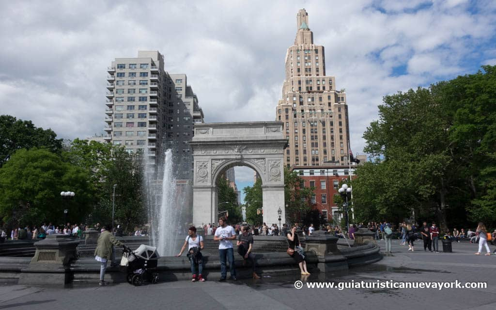 Vista de Washington Square Park