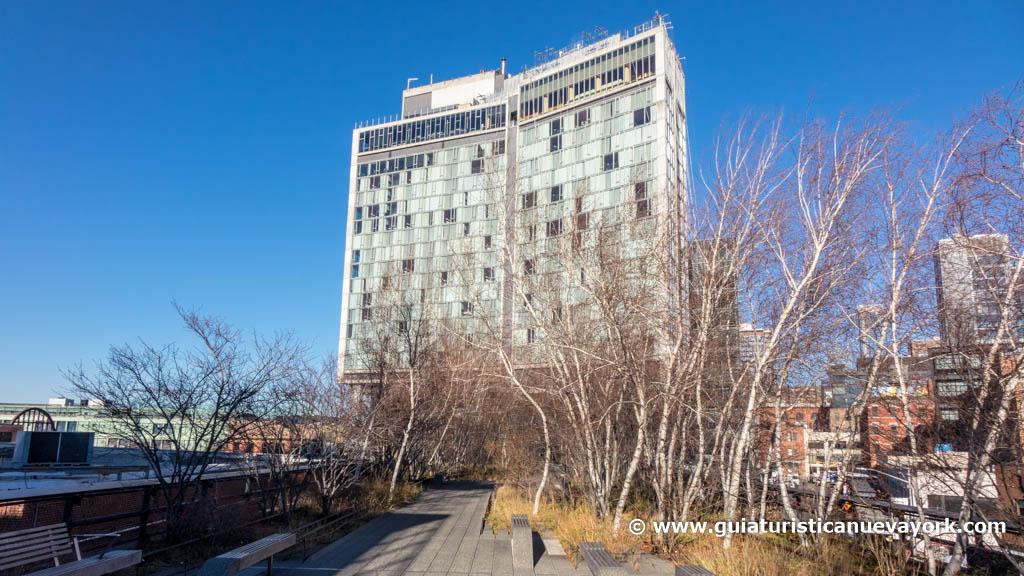 El Hotel Standard, al inicio de la High Line