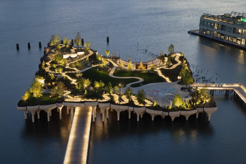 Vista aérea de Little Island